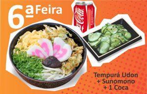 Tempura Udon + Sunomono + 1 Coca