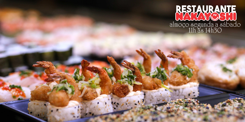 Restaurante Japonês Nakayoshi | Buffet Japonês por Quilo e Pratos Especiais à la Carte