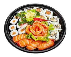 Sushi Sashimi Salmão 18 peças