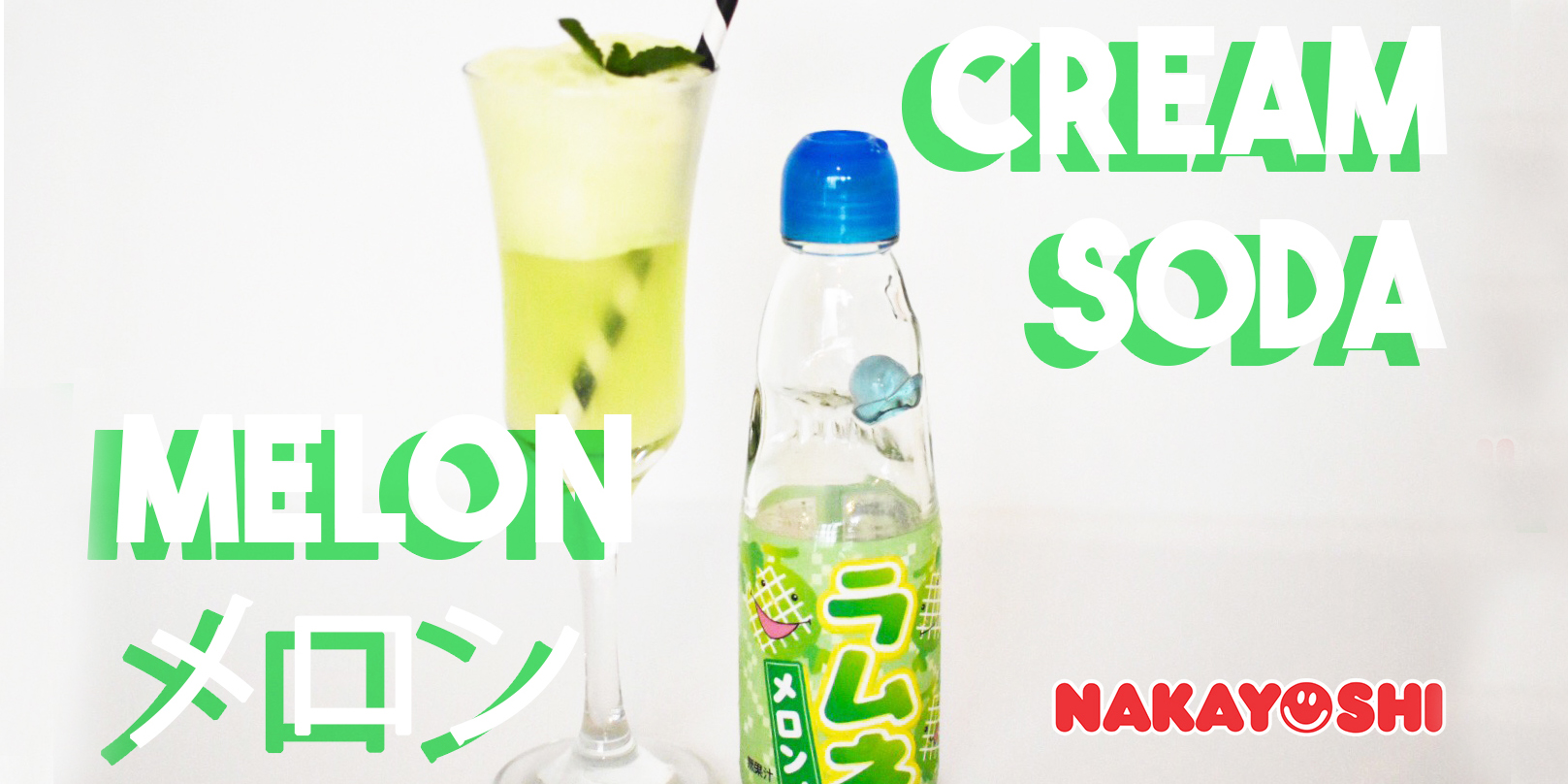 Cream Soda Japonês com Melon Soda