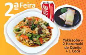 Yakissoba + 2 Harumaki Queijo + 1 Coca