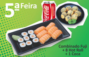 Combinado Fuji + Hot Roll + 1 Coca
