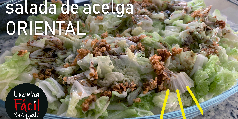 Receita de Salada de Acelga Oriental | Cozinha Fácil Nakayoshi